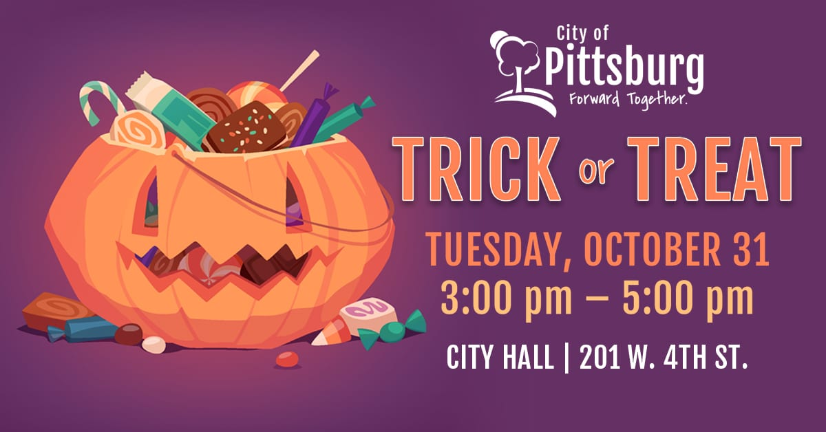 Pittsburg, Kansas City Hall trick or treat event
