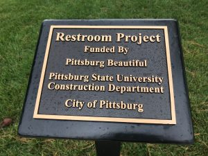 Restroom project plaque
