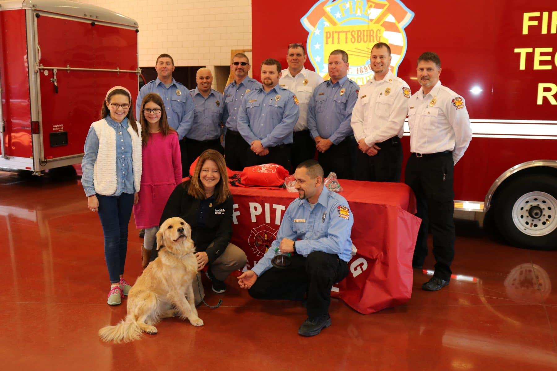 Kids help fire department receive pet oxygen masks