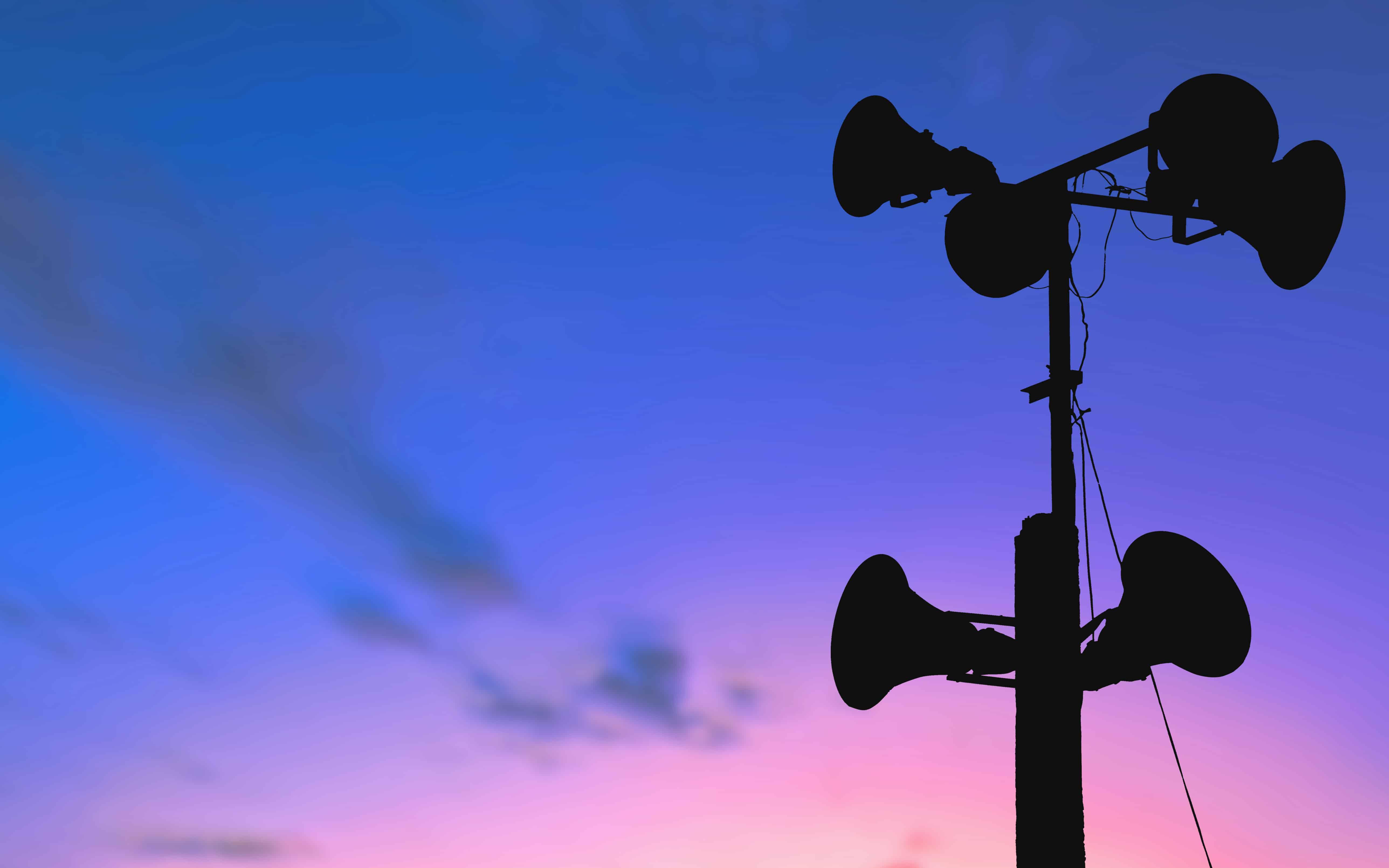 Outdoor storm warning siren testing begins