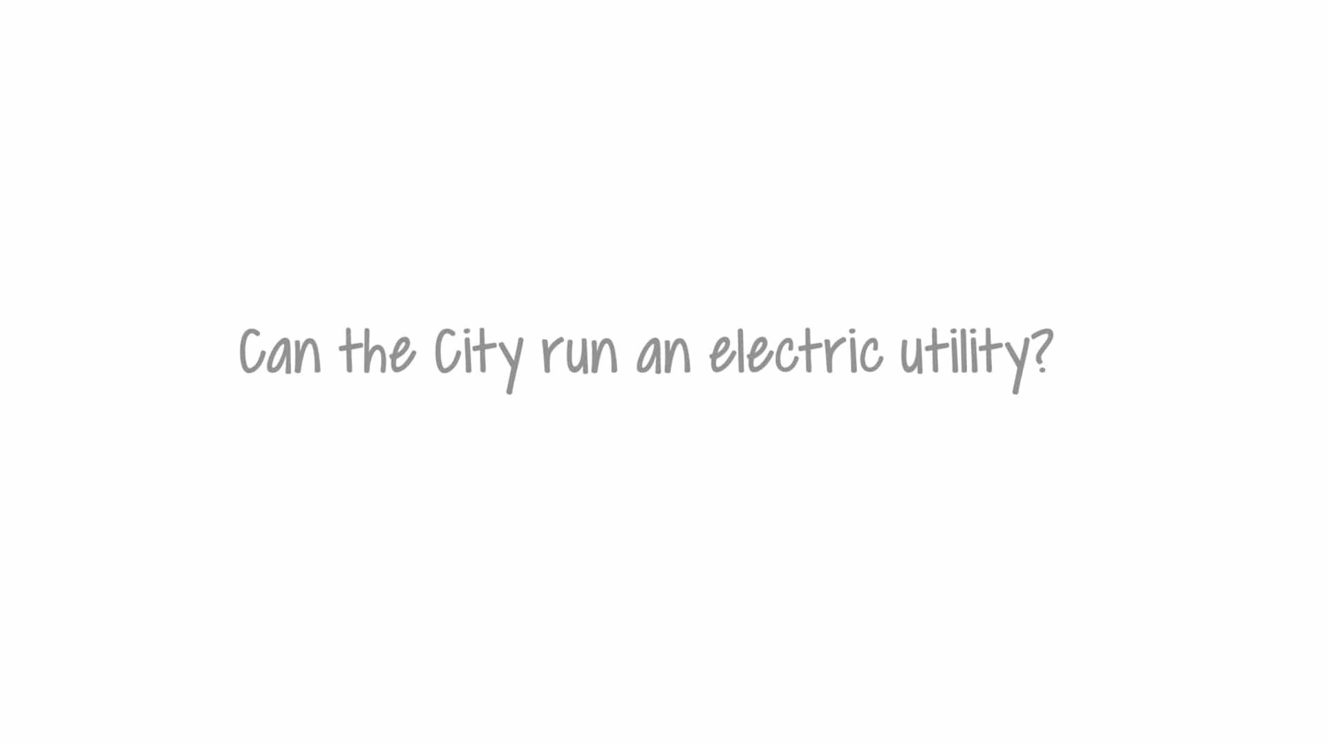 Can the city run electric utility?