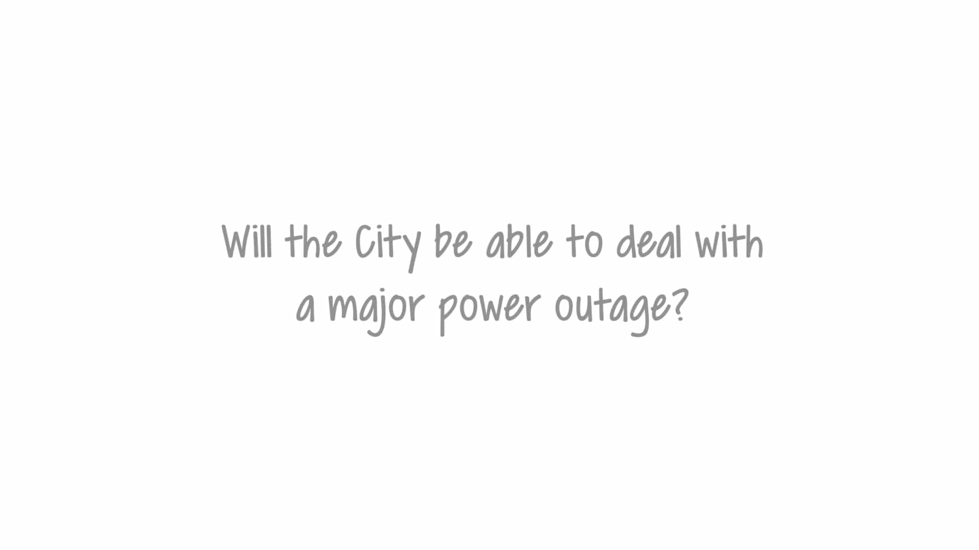 Will the city be able to deal with a major power outage
