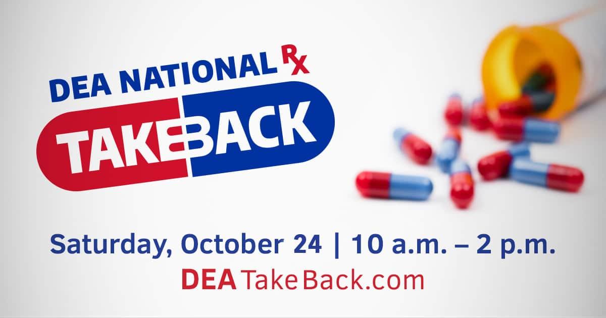 DEA Drug take back 2020