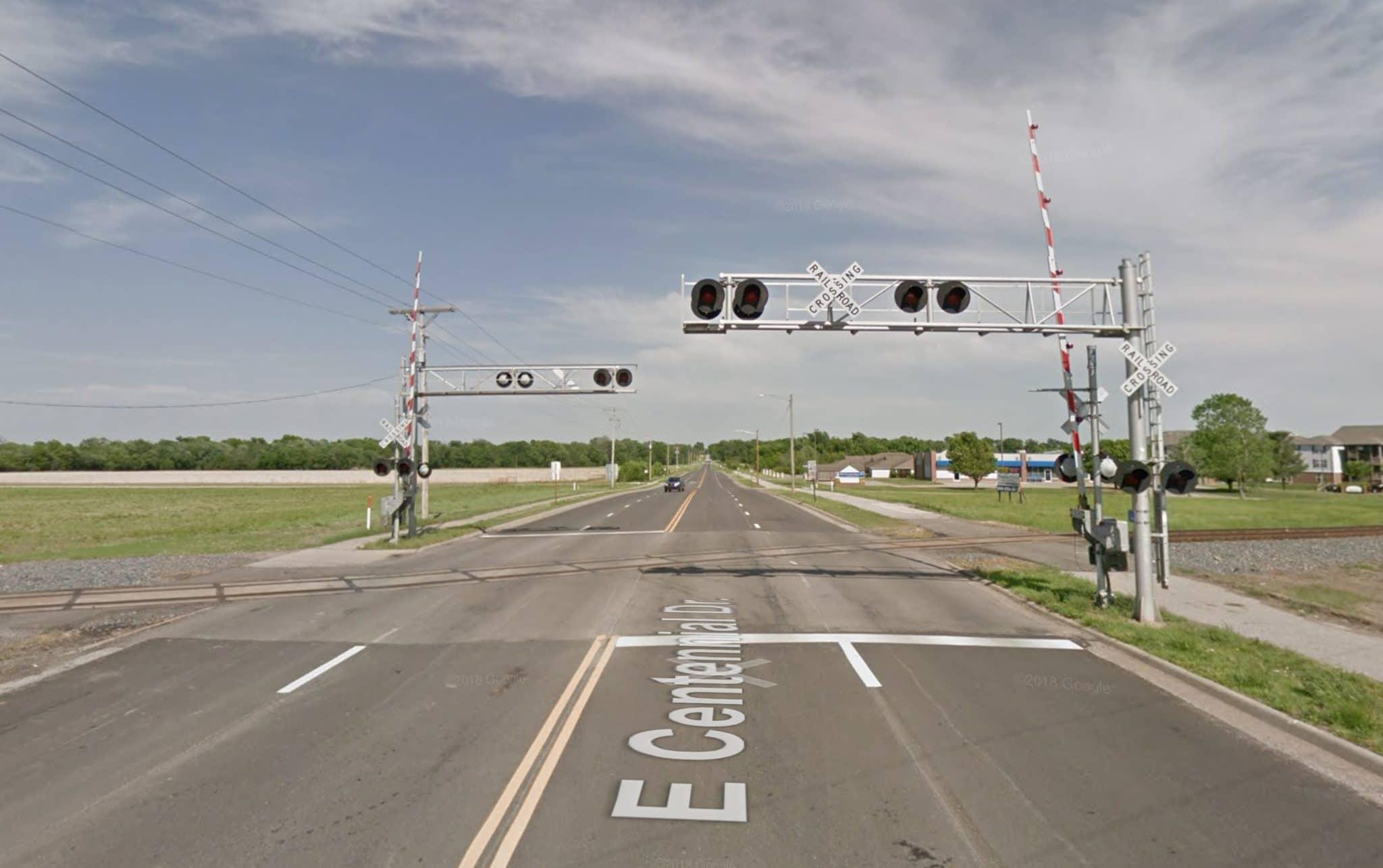 Road closure at Centennial Dr. railroad crossing