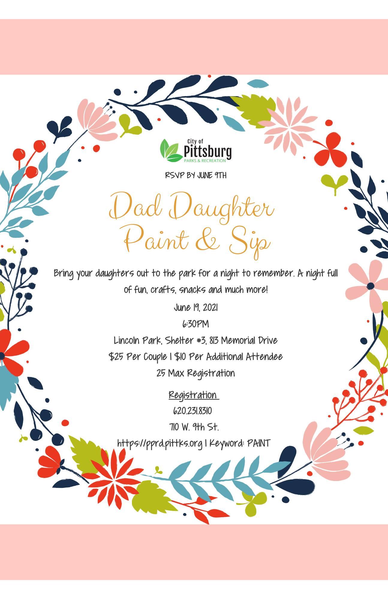 Dad Daughter Paint & Sip